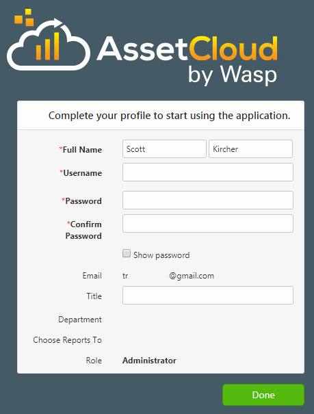 AssetCloud & InventoryCloud: new user invitation not working