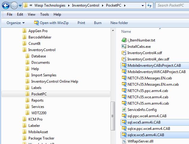 InventoryControl v7: Installing to WDT92 in batch mode via