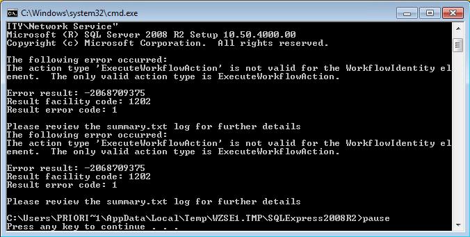 InventoryControl v7 / MobileAsset v7: SQL Server 2008 fails