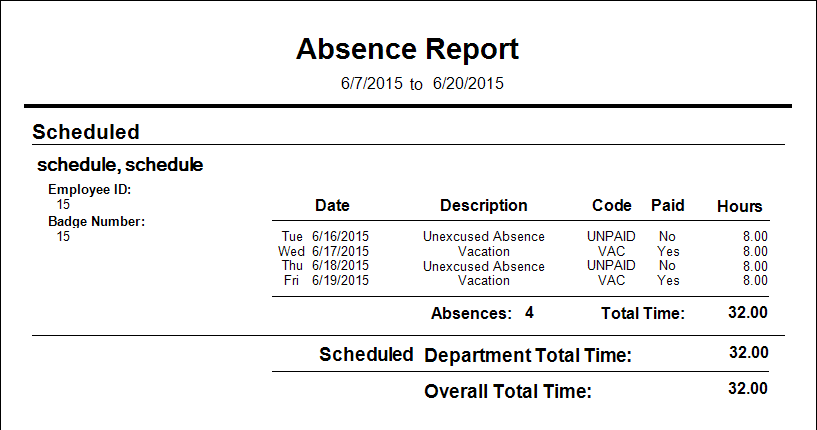Wasptime v7 absences and related reports knowledgebase software absence report shows details of absences that have been entered by a wasptime admin or manager thecheapjerseys Images
